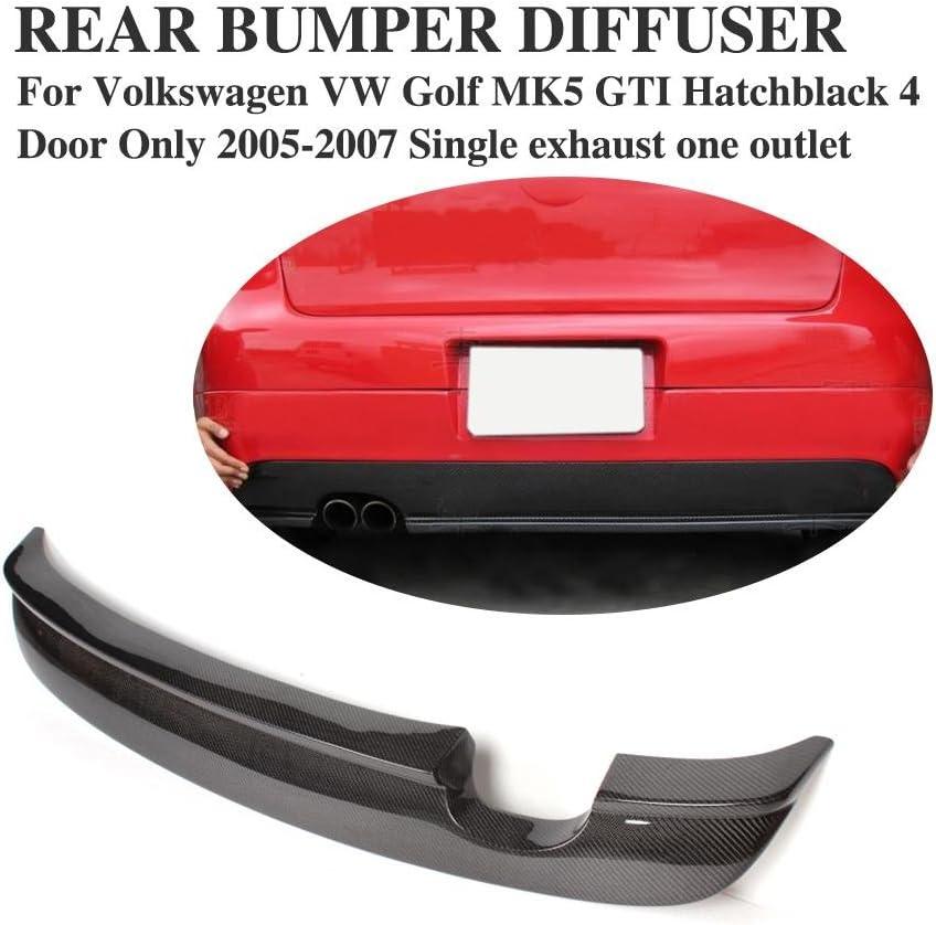 Buy Jc Sportline Carbon Fiber Rear Bumper Lip Diffuser Fits For Volkswagen Vw Golf 5 Mk5 Gti 4 Door 2005 2007 Online In Indonesia B012sr0n9k