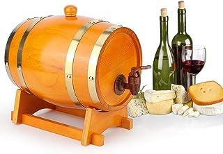 ウイスキーワインバレル、3Lプレミアムパインウッドエージングバレル、エイジユアオウンユアオウンウイスキー、ビール、ワイン、バーボン、テキール、ラム酒、ホームビール醸造設備(3L)