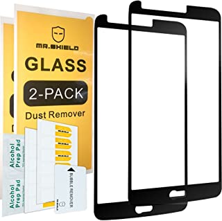 Mr.Shield Screen Protector For LG Stylo 3 [Japan Tempered Glass] [2-PACK] [9H Hardness] [Full Screen Glue Cover] Screen Protector with Lifetime Replacement