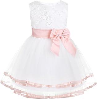 MEIbax M/ädchen Stickerei T/üll Party Hochzeit Spitzenkleid Kinder Baby Pageant Prinzessin Kleider Kleinkind Blumenm/ädchenkleid Sommerkleid
