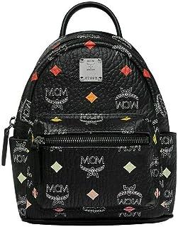 MCM Women's Black Coated Canvas Spectrum Diamond X-Mini Backpack MMK9SVE69BA001