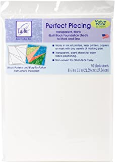 Perfect Piecing Foundation Sheets - 50 Pack (JT-1420)