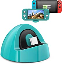 2020 Updated Nintendo Switch Lite and Nintendo Switch Portable Charging Dock,Portable Charging Stand Station with Type C Port Compatible with Nintendo Switch Lite 2019 and Nintendo Switch-Turquoise