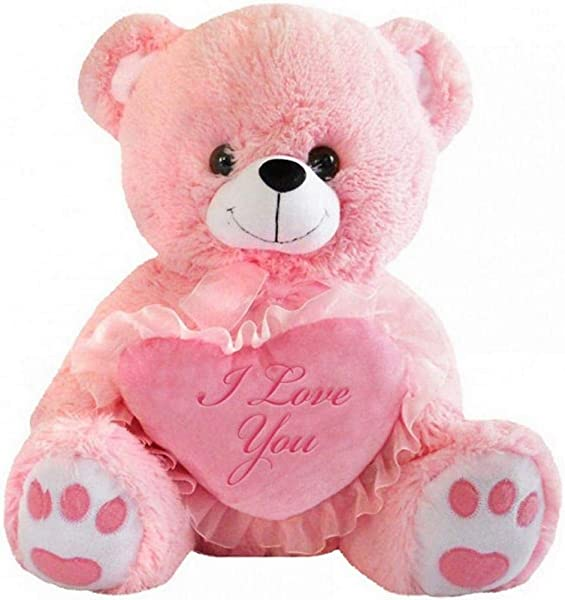 DBK Gifts Teddy Bear With I Love You Heart Pink