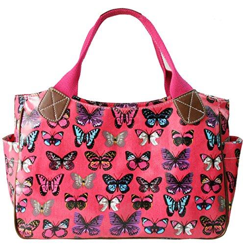 Miss Lulu - Bolso para mujer, de hule, con flores, búho, lunares o mariposas, color, talla M