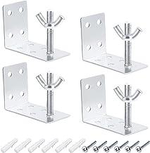 Morobor 1 بوصة الستائر الستائر البيضاء، مربع الشكل التثبيت قوس نافذة الستائر الحاوية قوس (4 قطع)