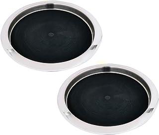 55 cm Kosma set di 4 Vassoio in acciaio inox Piatto di pesce Portagiornali Piatto Carne arrosto piastra