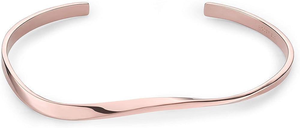 Rosefield, braccialetto per donna, in resistente acciaio inossidabile con placcatura in oro 14 kt JTWBR-J076