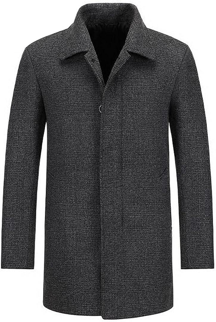 Men Wool Coat Autumn Winter 30% Wool Men Thick Coats Male Fashion Wool Blend Jackets Outerwear Smart Trench
