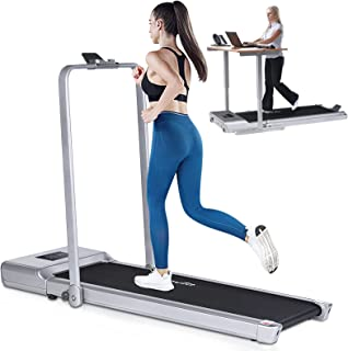 Foldable Treadmill for Home Use, Doufit 2 in 1 Under Desk Treadmill for Small Spaces, Indoor Electric Workout Walking Jogg...