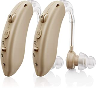 Invisible Hearing Aids for Seniors Rechargeable with Noise Cancelling, Aioze Personal Hearing Amplifier for...