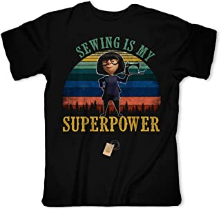 Sewing Is My Superpower Funny A Sewing Superhero Rabbit Vintage Customized Handmade T-Shirt Hoodie/Long Sleeve/Tank Top/Sweatshirt