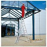 WOLFPACK LINEA PROFESIONAL Escalera Aluminio Industrial Pronor 3 Tramos.10+10+10 Peldaños