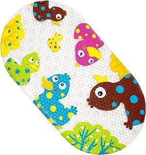 BliGli お風呂マット バスマット 転倒防止 すべり止め 浴槽 浴室用 吸盤つき 子供 高齢者用 39x69cm (カラー鴨)