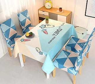 LMWB Bordsskydd, bordsduk, bomulls- och linnebordsmatta, matbord och stolskydd, soffbord bordsduk, vattentät stolsöverdrag...