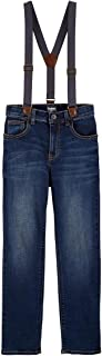 OshKosh B'Gosh Slim Fit Boys Suspender Jeans Size 5