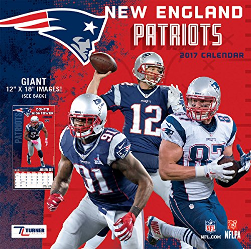 "Turner Licensing Sport 2017 New England Patriots Team Wall Calendar, 12""X12"" (17998011917)"