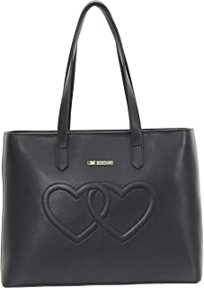 LOVE Moschino Womens Embossed Heart Tote Bag