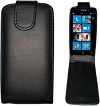 Wangl Nokia Cases Vertical Flip Magnetic Snap Leather Case for Nokia Lumia 610(Black) Nokia Cases (Color : Black)