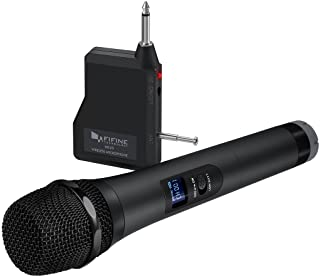 Wireless Microphone,Fifine Handheld Dynamic Microphone Wireless mic System for Karaoke..