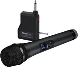Wireless Microphone,Fifine Handheld Dynamic Microphone Wireless mic System for Karaoke..