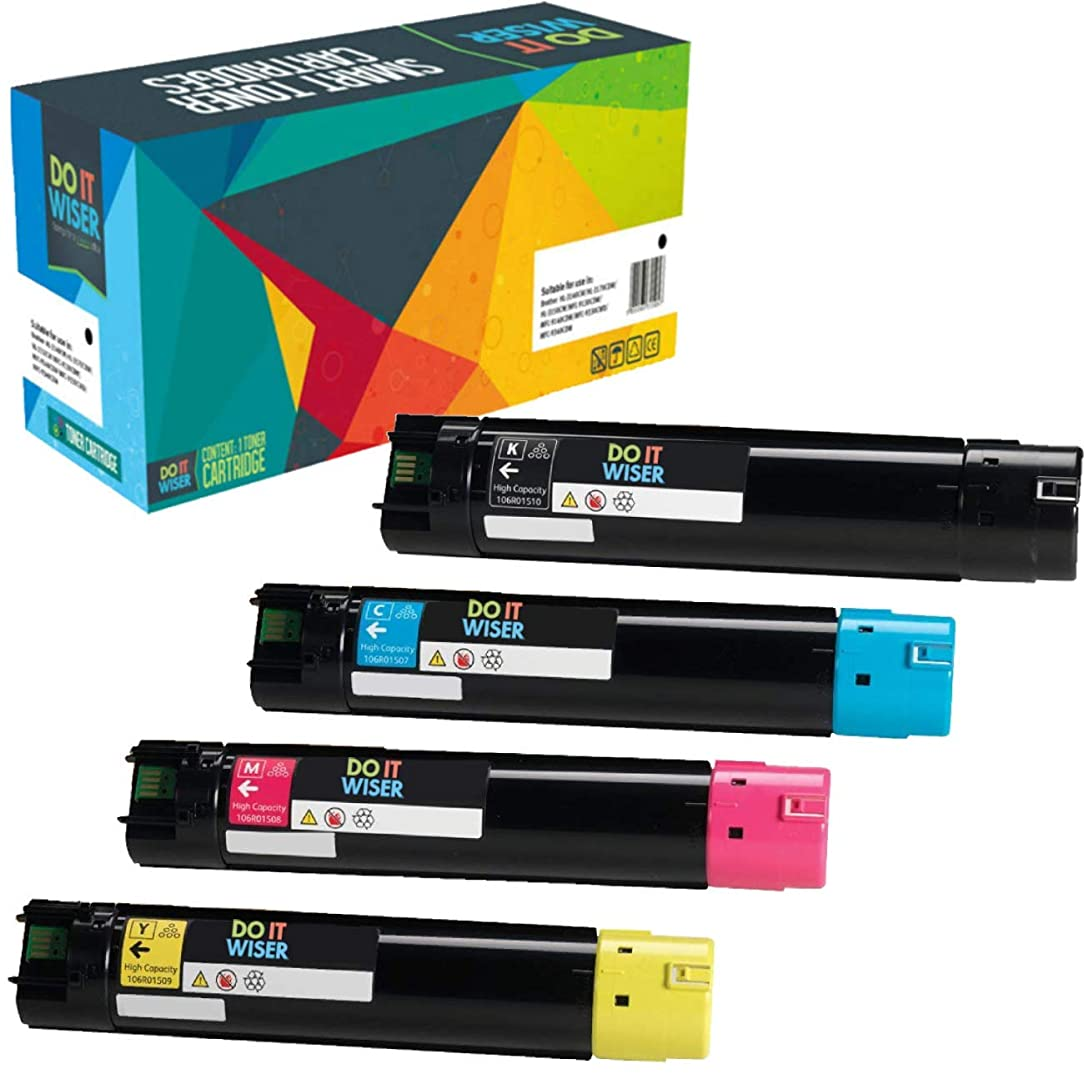 Do it Wiser Compatible High Yield Toner For Xerox Phaser 6700 6700N 6700DN 6700DT 6700DX - 106R01510 106R01507 106R01508 106R01509 - Black 18,000 Pages Color 12,000 Pages - 4 Pack