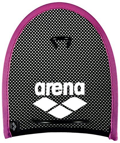 arena Unisex Schwimm Wettkampf Trainingshilfe Hand Paddles Netzstoff für Krafttraining, rosa (Pink-Black), M