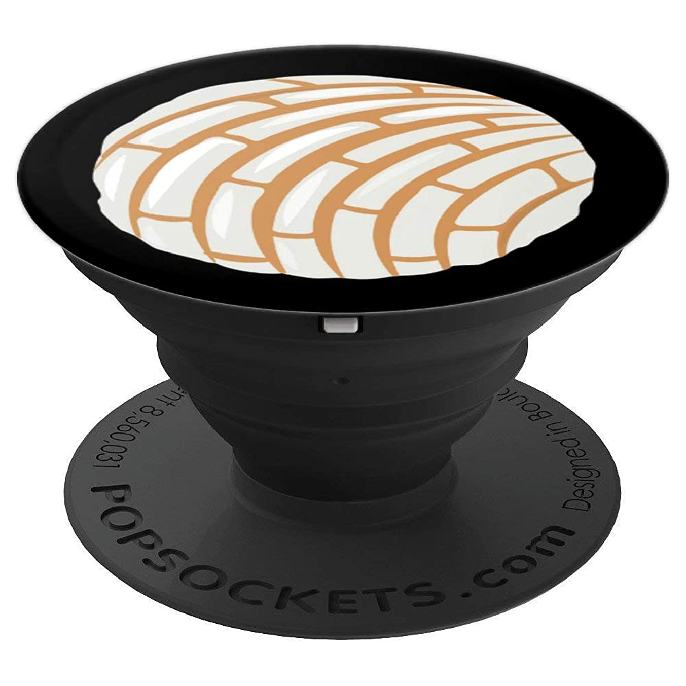 White Concha Pan Dulce - PopSockets Grip and Stand for Phones and Tablets