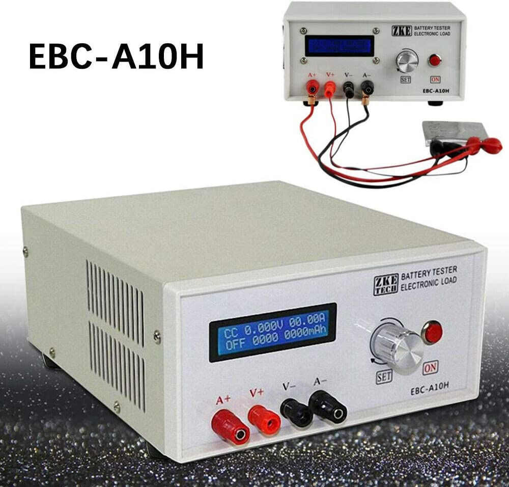 Tester Charger EBC-A10H Battery Capacity Charge and Discharge Tester Car Industry Li/Pb Battery Testers Electronic Load Charge Discharge Capacity Constant Discharge Power Charger Test Tool