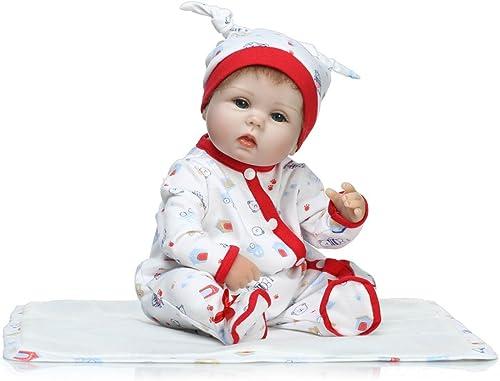 saludable Docooler Reborn Baby Doll Realista Super Suave PP Llenaño Llenaño Llenaño del Cuerpo Realista Boneca Gifts Toy Rompers 16 Pulgadas 41 cm para Niños Adultos, cumpleaños.  ventas calientes