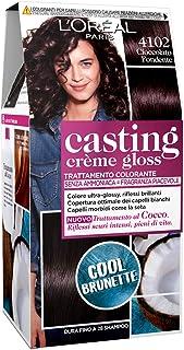L'Oréal Paris Tinta Capelli Casting Creme Gloss, senza Ammoniaca per una Fragranza Piacevole, 4102 Cool Brunette Cioccolat...