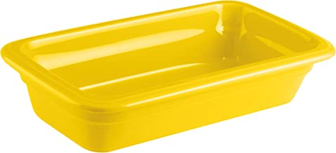 Paderno World Cuisine 44317Y06 Induction or Porcelain Hotel Pan, Extra Small, Yellow