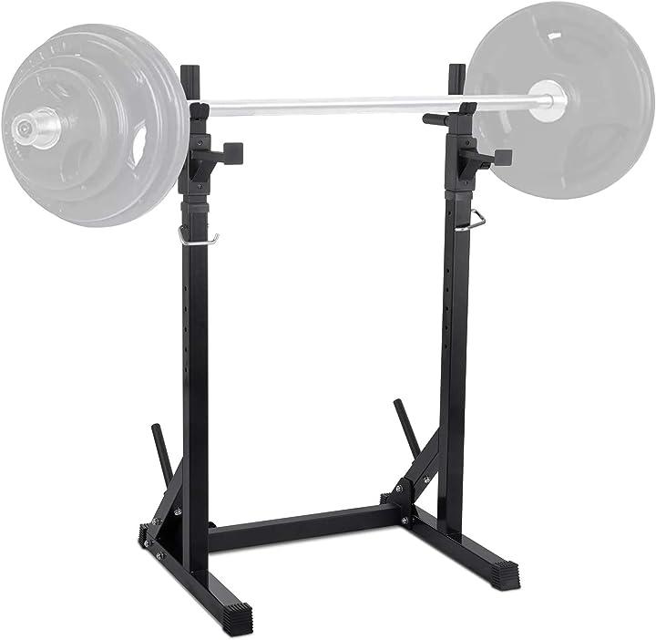 Rack squat palestra  supporto bilanciere regolabile stand per bilanciere 250 kg carico massimo wowspeed B08XXGLS6G