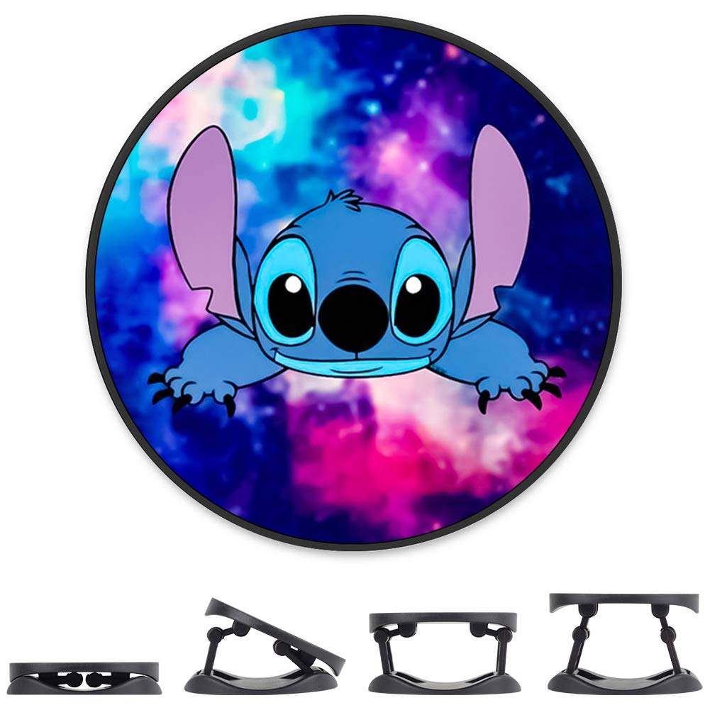 DISNEY COLLECTION Cell Phone Finger Stand Holder Stitch and Starry Sky Grip Foldable Expanding Kickstand Phone Mount…