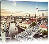 Skyline von Berlin Format: 120x80 auf Leinwand, XXL riesige