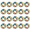 ZAIDEA 国連 SDGs ピンバッジ バッジ 襟章 ビジネス カジュアル アクセサリー (20個セット)