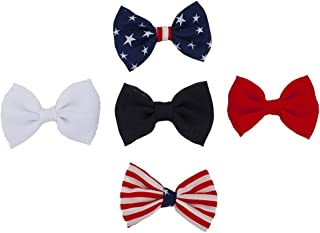 26ee5412f21e Lux Accessories America USA Americana 4th of July American pride Flag Bow  Pack (5pc)