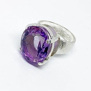 Grande e prezioso anello con grande e preziosa Ametista Viola/Rosa misura 13,9 mm x 16,7 mm di 12,86 carati. Anello.