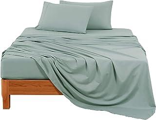 (Bean Green, Full) Bed Sheets Set Made in China
