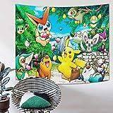Pokemon Tapisserie Wandbehang Anime Tapisserie Poster für