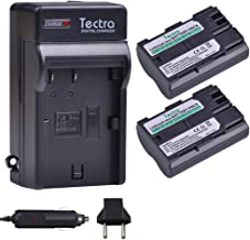 Tectra 2Pcs BP-511 BP-511a High-Capacity Battery + Charger Kits for Canon Cameras Canon EOS 5D, 50D, 40D, 20D, 30D, 10D, Digital Rebel, D60, 300D, D30,PowerShot G1 G2 G3 G5 G6 Pro 1 Pro 90 Pro 90IS