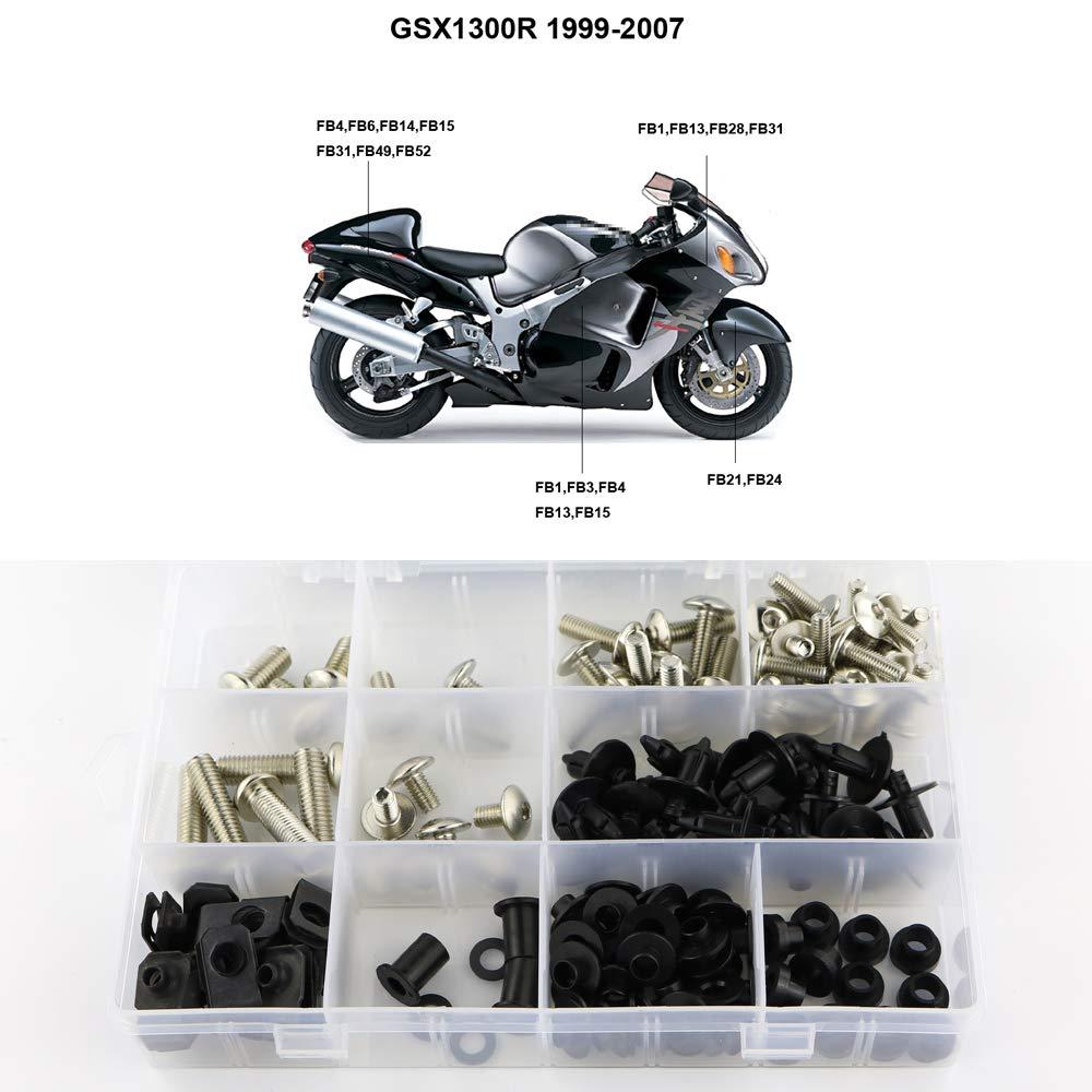 Silver Full Set Bodywork Screws//Fastenings//Mounting Kits Xitomer Complete Fairing Bolts for Suzuki GSX1300R HAYABUSA 2008 2009 2010 2011 2012 2013 2014 2015 2016 2017 2018 2019