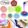 Acrylic Pouring Strainers, Angela&Alex 7 PCS Flow Painting Tools Art Supplies Kits Drawing Flow Fluid Sets Strainers Plastic Silicone Drain Basket Unique Pattern