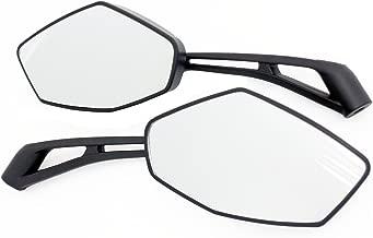 MMG Universal Fit Adjustable Mirror Set, 8mm RH/RH Thread, Street Flat Black, Motorcycle Scooter (2249)