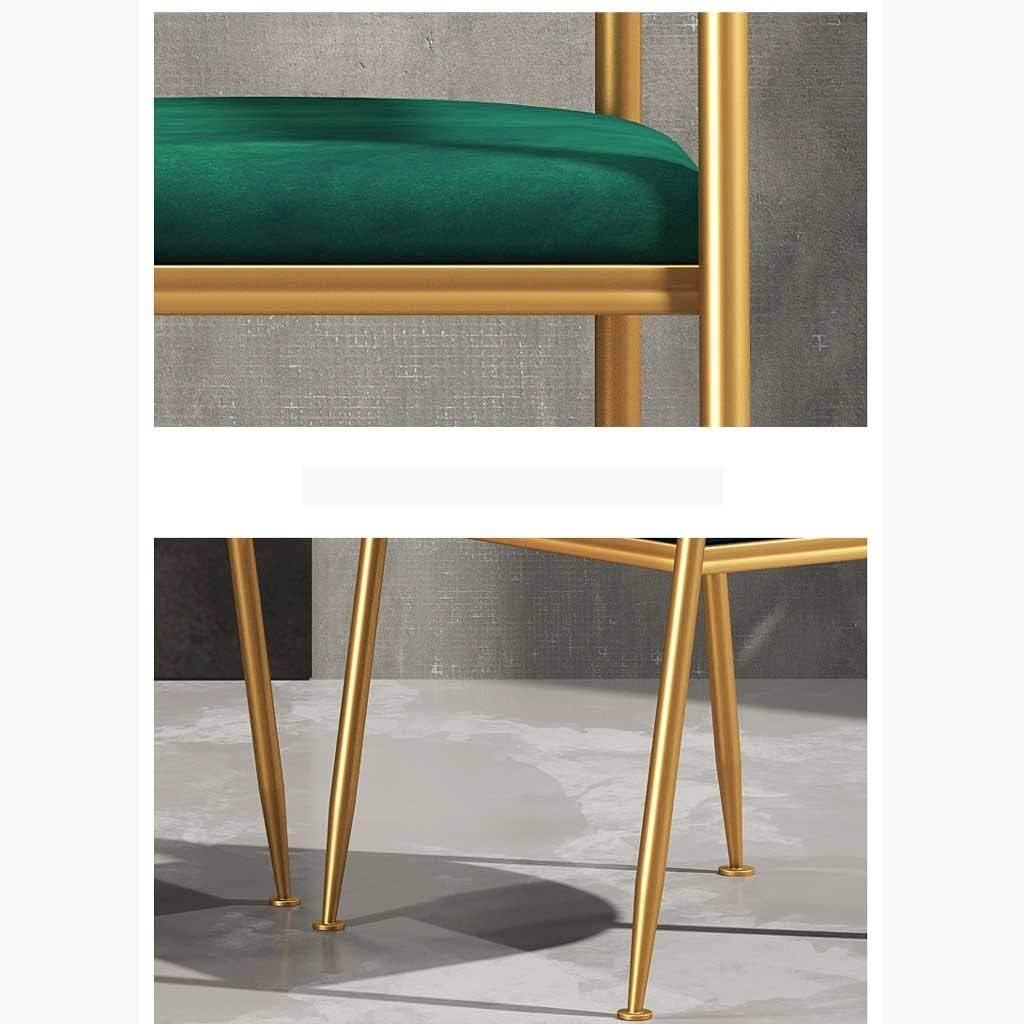 Chaises de salle à manger, chaises de café, chambres à coucher, cuisine, salons, sièges de centre commercial (Color : Blue) Green