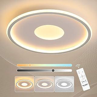 Lámpara LED Techo Redondo Regulable con Mando a Distancia, 36W 3600LM Modernas 3000k-6000K para Habitaciones Infantiles Cocina Dormitorio Salón, Blanco 40cm, Superficie