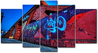5 Panel Wall Art Painting City Graffiti Street Wall Prints On Canvas The Picture City Pictures Oil for Home Modern Decoration Print Decor
