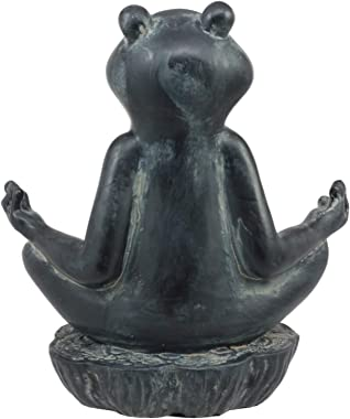 Atlantic Collectibles Feng Shui Buddha Zen Frog Decorative Talisman Figurine 6 Tall