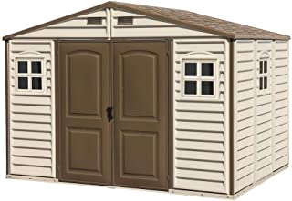 comprar comparacion Duramax Caseta de PVC Woodside 10X8, Beige/Marron, 8,02 m²