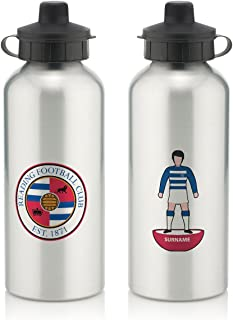 Official Personalized Queens Park Rangers FC Player Figure Water Bottle with Spring Hook (600ml) - Silver/White (Free Personalization)